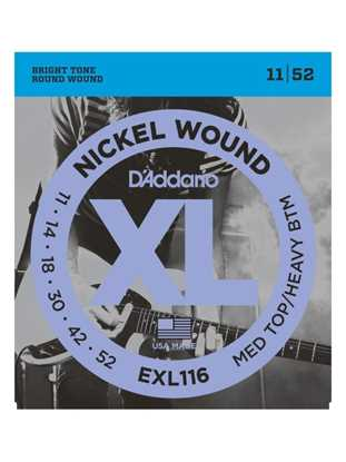 D'Addario EXL116 Drop-tuning, Medium Top/Heavy Bottom