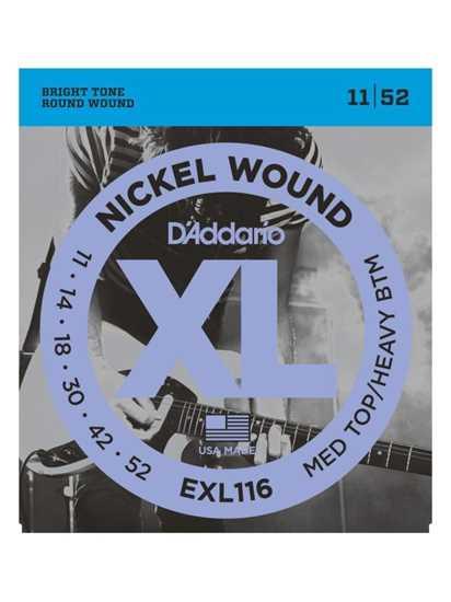 D'Addario EXL116 Drop-tuning, Medium Top/Heavy Bottom