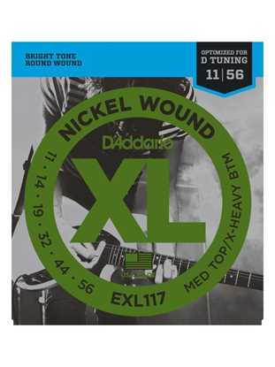 D'Addario EXL117 Drop D-tuning, Medium Top/Extra-Heavy Bottom