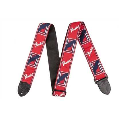 "Fender 2"" Monogrammed Strap Red/White/Blue"