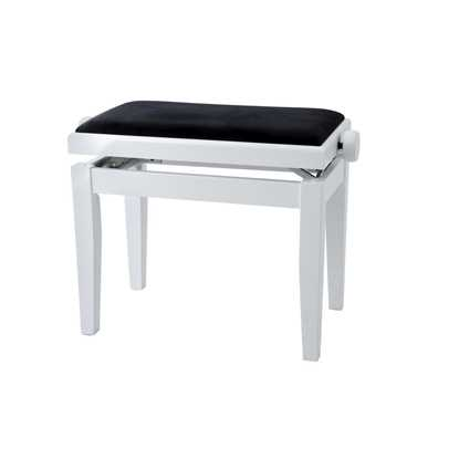 GEWA Piano Bench Deluxe White Matte