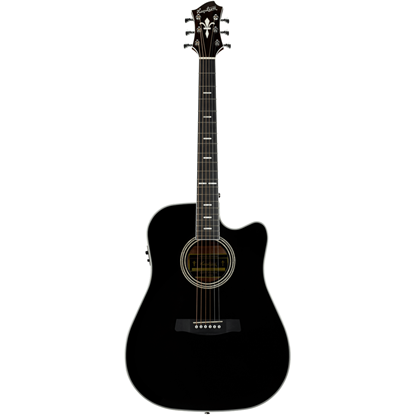Hagström Siljan II Dreadnought CE Black