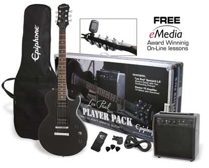 Bild på Epiphone Les Paul Player Pack ebony