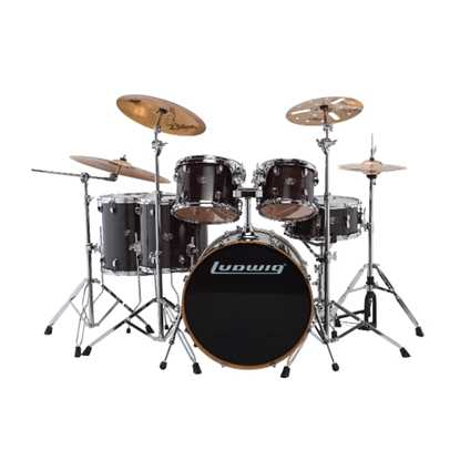Bild på Ludwig Evolution Maple 22 - Transparent Black