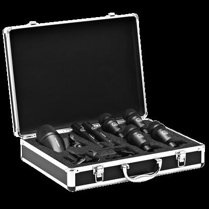 Bild på AKG Drumset Session 1 1x P2 2x P17 4x P4 hållare och väska