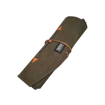 Bild på Tackle Waxed Canvas Roll Up Stick Case Forest Green