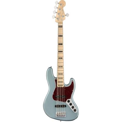 Bild på AM ELITE Jazz Bass V MN Satin Ice Blue Metallic