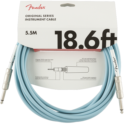 Bild på Fender Original Series Instrument Cable 18.6 Daphne Blue