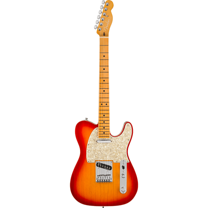 Bild på Fender American Ultra Telecaster® Maple Fingerboard Plasma Red Burst
