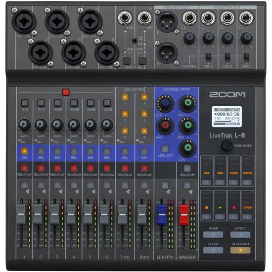 Bild på ZOOM LiveTrak L-8 Pod/mixer/Recorder