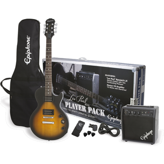 Bild på Epiphone Les Paul Player Pack Vintage Sunburst Elgitarrpaket