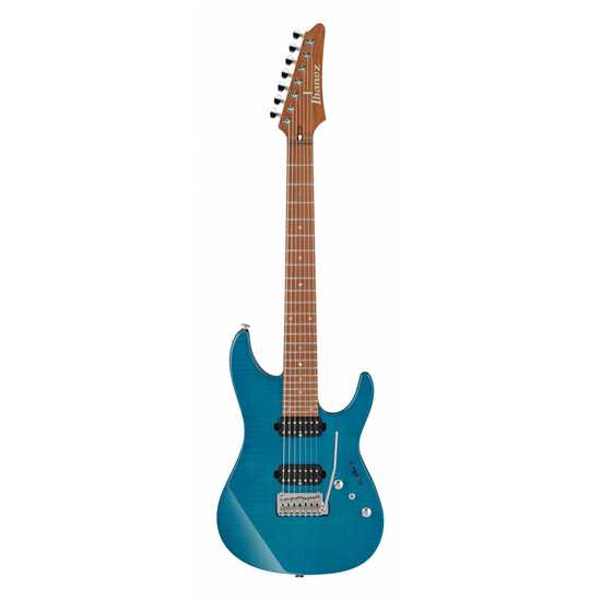 Bild på Ibanez MM7-TAB (Transparent Aqua Blue) Martin Miller 7-strängad Signature Elgitarr