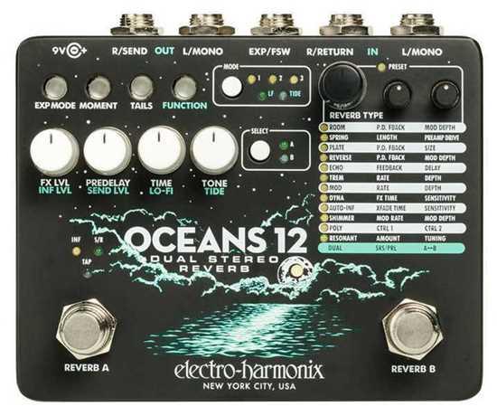 Bild på Electro Harmonix OCEANS 12 Reverb