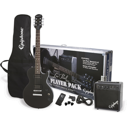 Bild på Epiphone Les Paul Player Pack Ebony Elgitarrpaket