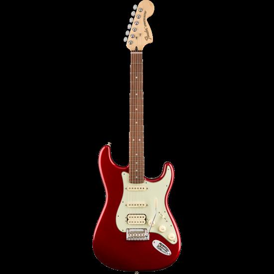 Bild på Fender Deluxe Stratocaster HSS PF Candy Apple Red